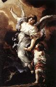 Pietro da Cortona The Guardian Angel oil painting reproduction